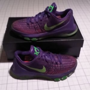 Nike KD Youth Purple & Lime Green Athletic…
